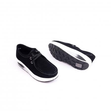 Pantof casual dama F003-1807 black suede1