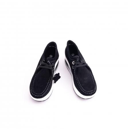 Pantof casual dama F003-1807 black suede5
