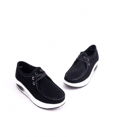 Pantof casual dama F003-1807 black suede3