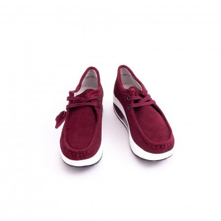 Pantof casual dama F003-1807 burgundy suede5