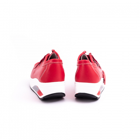 Pantof casual dama F003-1807 red leather [6]