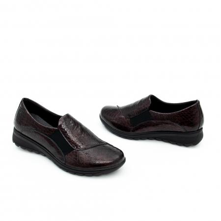 Pantof casual dama IMAC 9108 bordeaux1