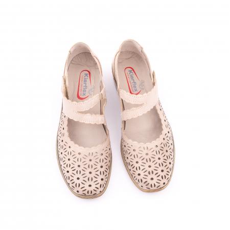 Pantof casual dama Kiarflex KR19040 bej5