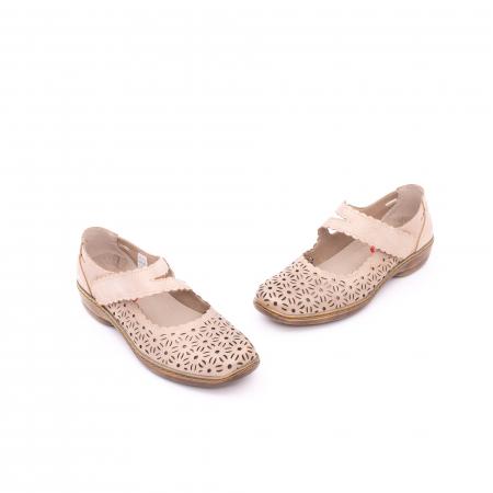 Pantof casual dama Kiarflex KR19040 bej1