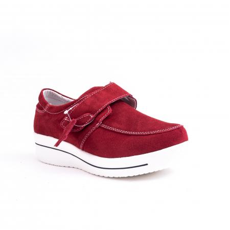 Pantof casual dama marca Angel Blue F002-56 burgundy suede0