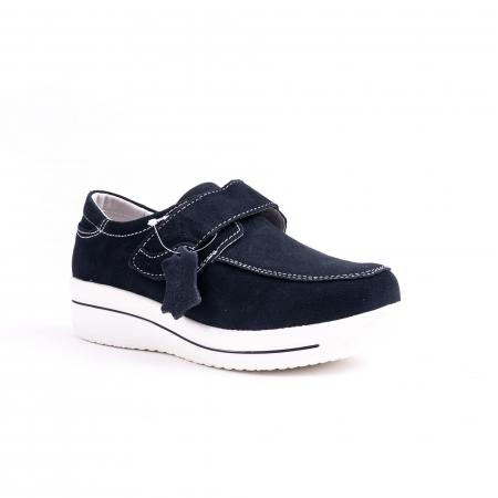Pantof casual  Angel Blue F002-56 navy suede0