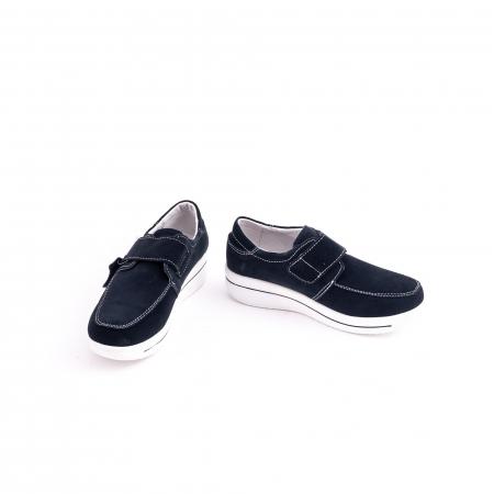 Pantof casual  Angel Blue F002-56 navy suede4