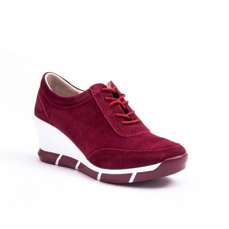 Pantof casual Angel Blue VK-F001-441 burgundy suede0