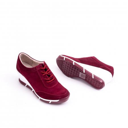 Pantof casual Angel Blue VK-F001-441 burgundy suede2