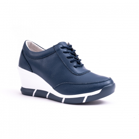 Pantof casual Angel Blue VK-F001-441 navy leather0
