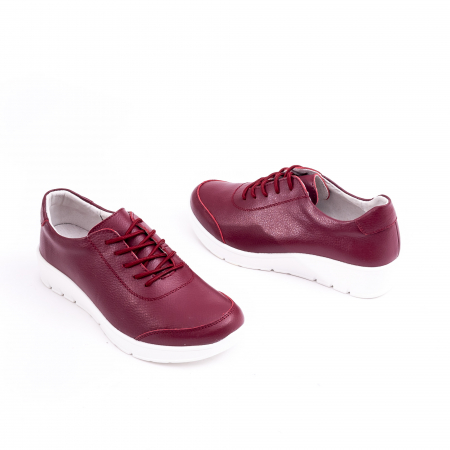Pantof casual  Angel Blue VK-F001-442 burgundy leather1