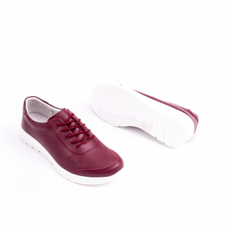 Pantof casual  Angel Blue VK-F001-442 burgundy leather2