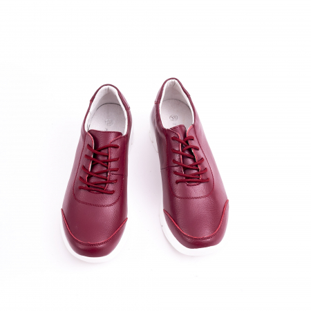 Pantof casual  Angel Blue VK-F001-442 burgundy leather5