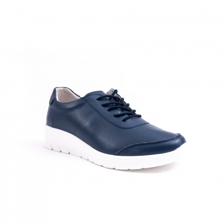 Pantof casual Angel Blue VK-F001-442 navy leather0