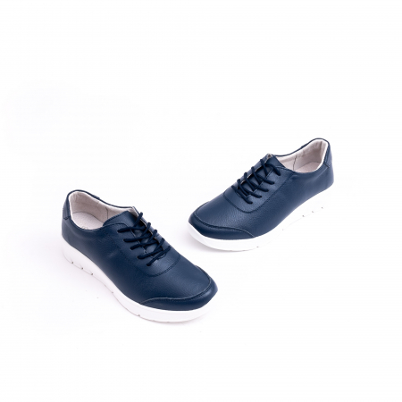 Pantof casual Angel Blue VK-F001-442 navy leather1