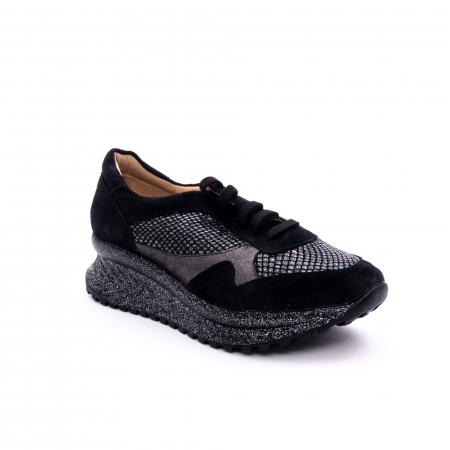Pantof dama casual Nike Invest 1192, negru-argintiu0