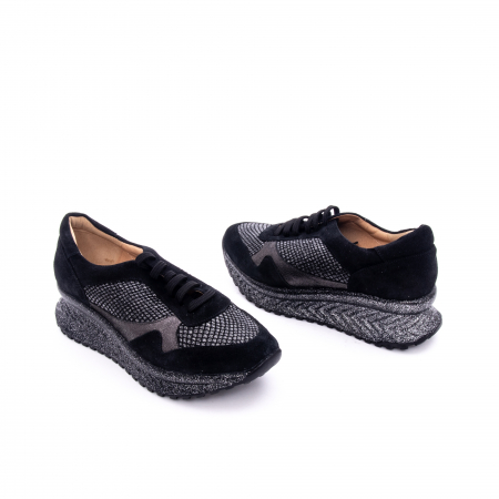 Pantof dama casual Nike Invest 1192, negru-argintiu1
