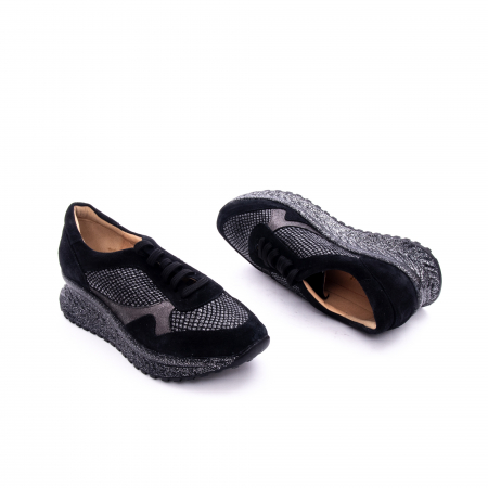 Pantof dama casual Nike Invest 1192, negru-argintiu2