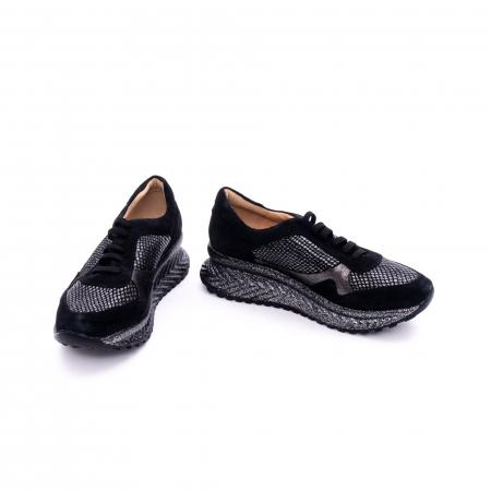 Pantof dama casual Nike Invest 1192, negru-argintiu3