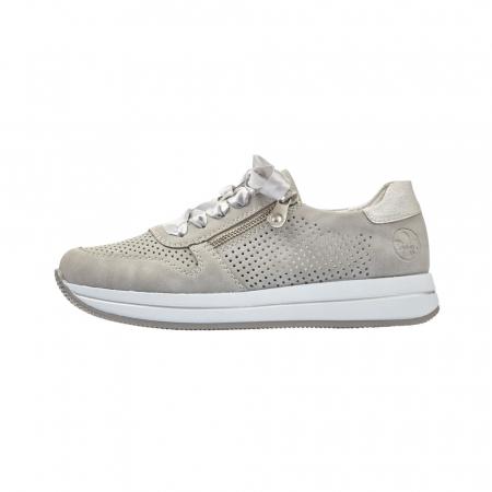 Pantofi dama casual din piele naturala, Rieker N4525-415
