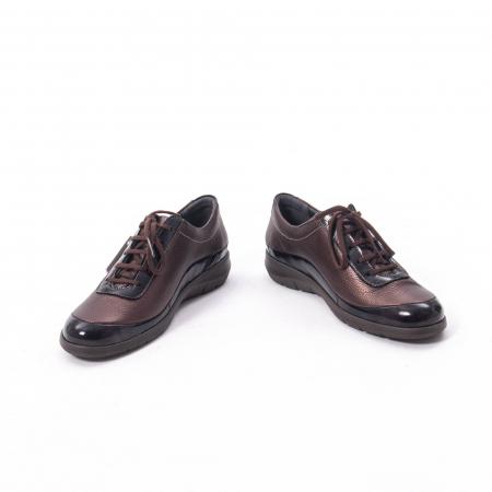 Pantofi dama casual piele naturala Suave Oxford 6605, maro4