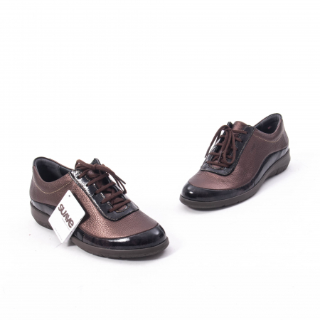 Pantofi dama casual piele naturala Suave Oxford 6605, maro1