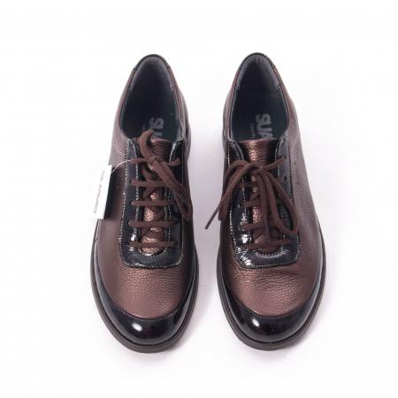 Pantofi dama casual piele naturala Suave Oxford 6605, maro5