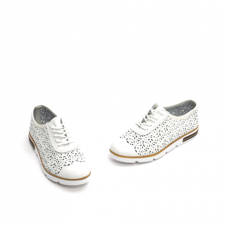 Pantof casual de vara 66626 alb1