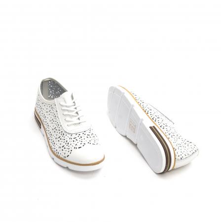 Pantof casual de vara 66626 alb2