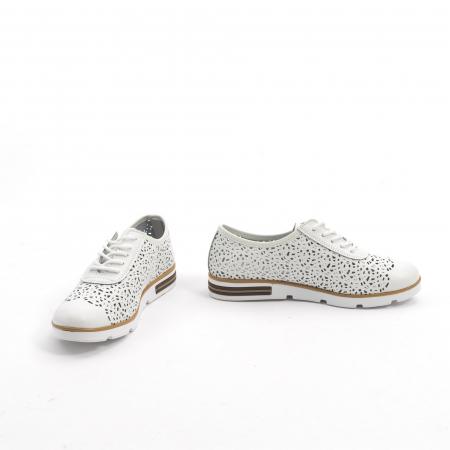 Pantof casual de vara 66626 alb4