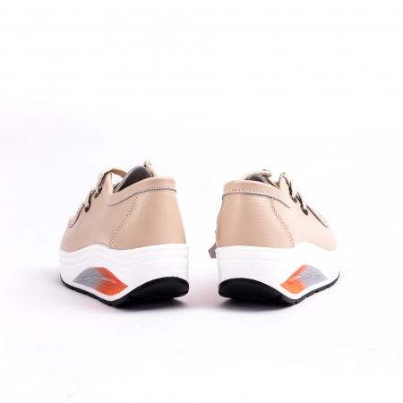 Pantof casual F003-1807 bej5