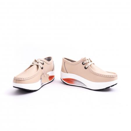 Pantof casual F003-1807 bej4