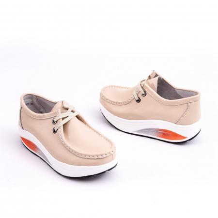 Pantof casual F003-1807 bej2