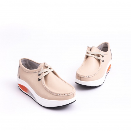 Pantof casual F003-1807 bej1