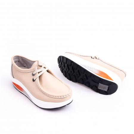 Pantof casual F003-1807 bej3