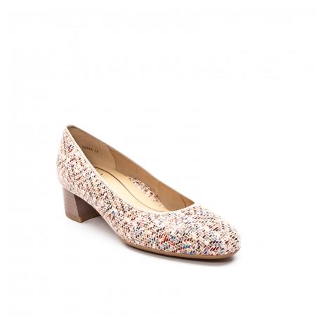 Pantofi dama din piele naturala ARA 16601-10 mozaic