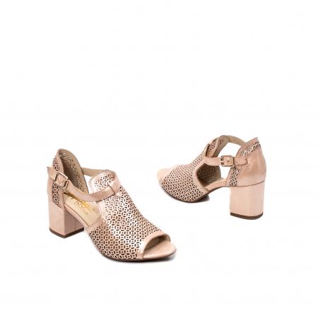 Pantof dama decupat elegant, piele naturala texturata, UF9352