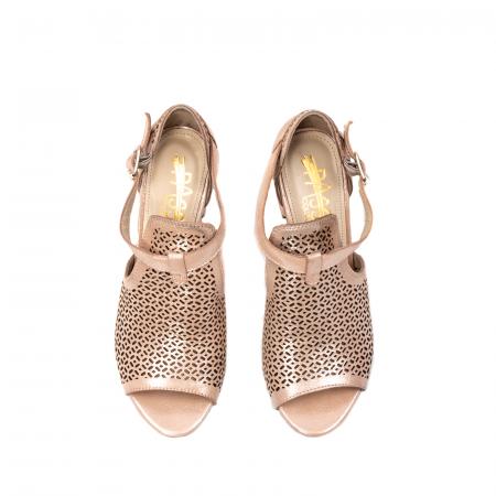 Pantof dama decupat elegant, piele naturala texturata, UF9355