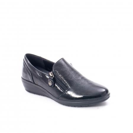 Pantofi casual dama piele naturala naplac Imac IC406960, negru0