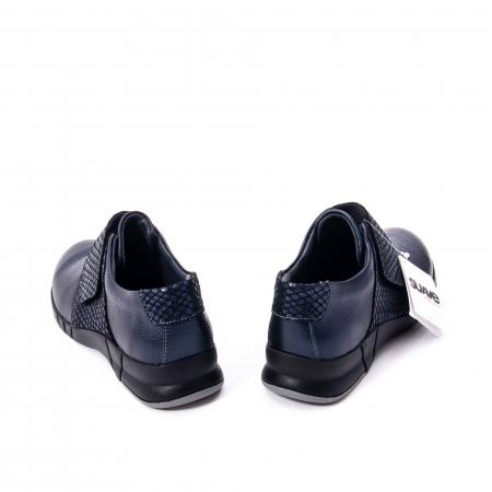 Pantofi casual dama piele Suave Sukyoto 9203, bleumarin1