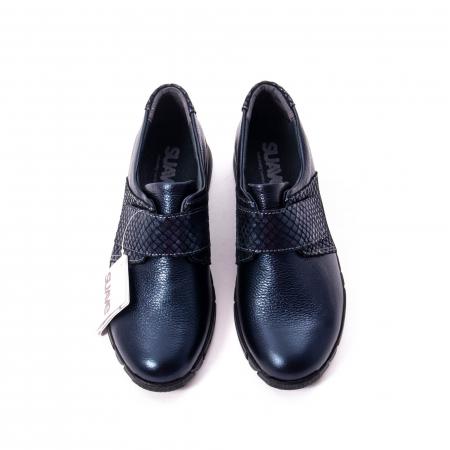 Pantofi casual dama piele Suave Sukyoto 9203, bleumarin4