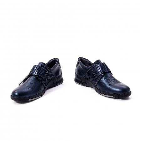 Pantofi casual dama piele Suave Sukyoto 9203, bleumarin5