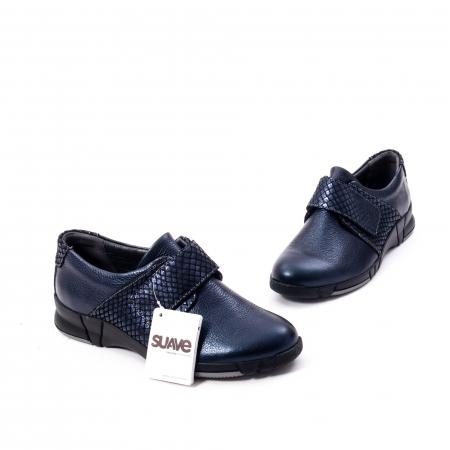 Pantofi casual dama piele Suave Sukyoto 9203, bleumarin6