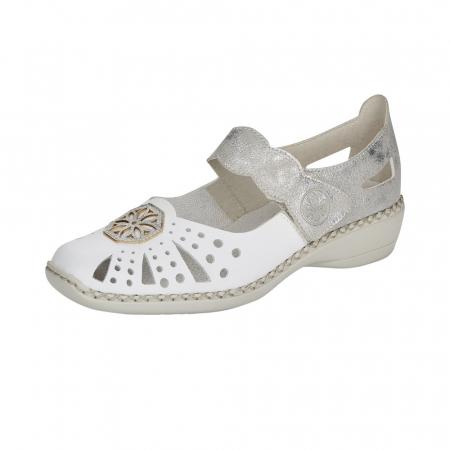 Pantofi decupati dama din piele naturala, 41368-800