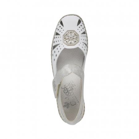 Pantofi decupati dama din piele naturala, 41368-801