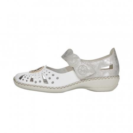 Pantofi decupati dama din piele naturala, 41368-804