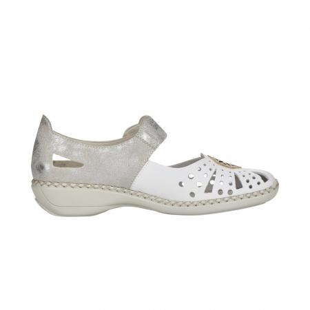 Pantofi decupati dama din piele naturala, 41368-802