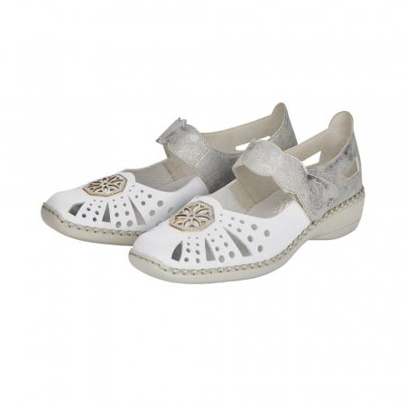 Pantofi decupati dama din piele naturala, 41368-805