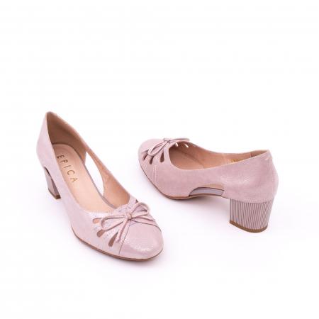 Pantofi dama decupati piele naturala Epica jyh363, nude2