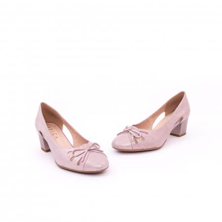 Pantofi dama decupati piele naturala Epica jyh363, nude1
